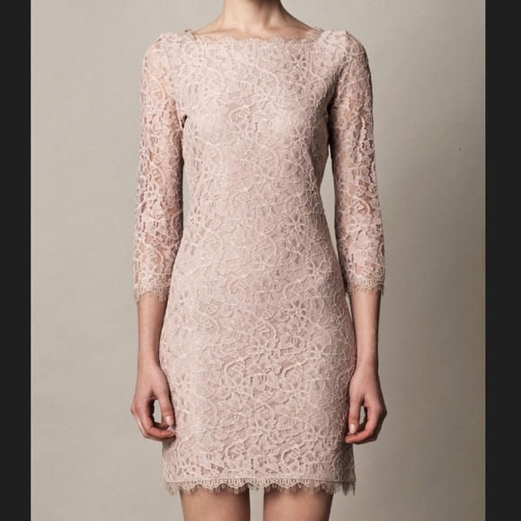 7f2bd98566 Diane Von Furstenberg Dresses   Skirts - DVF ZARITA NUDE LACE 3 4 SLEEVE  SHEATH